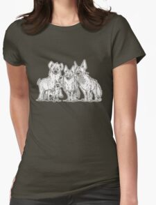 Hyenas - Dark Womens Fitted T-Shirt