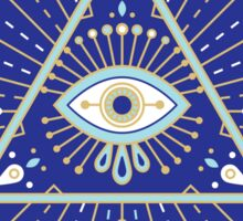 Evil Eye Mandala – Navy Sticker