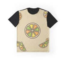 Citrus Pattern Graphic T-Shirt