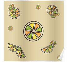 Citrus Pattern Poster