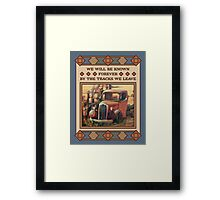 We Will be Remembered, Old Truck Framed Print