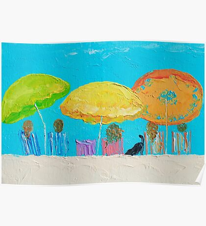 Beach painting - Sunny Days Poster