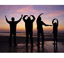 YMCA ( beach sunset silhouette ) Photographic Print