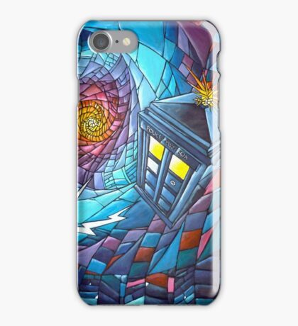 Tardis stained glass style  iPhone Case/Skin