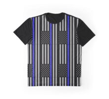 THE THIN BLUE LINE BLESSED ARE THE PEACEMAKERS Graphic T-Shirt