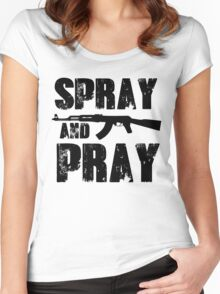 Spray and pray Women's Fitted Scoop T-Shirt