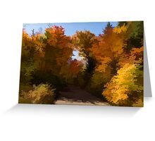Sunny, Warm and Colorful - Autumn Impressions Greeting Card