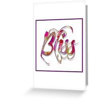 Colorful Bliss Typography Art Greeting Card