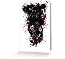 Trash polka raven and skull  Greeting Card