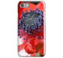 Red Anemone Flower Close iPhone Case/Skin
