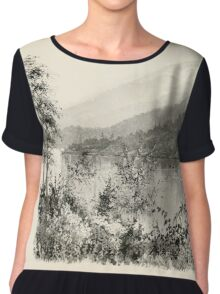 Southern wild flowers and trees together with shrubs vines Alice Lounsberry 1901 055 Lake Sapphire Chiffon Top