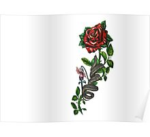 The wall, the snake, the rose  Poster