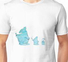 Blue Watercolour Totoro Design Unisex T-Shirt