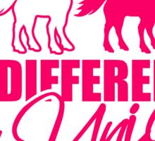 be different be a unicorn horse series pattern design unicorn pink horse outline silhouette shadow symbol logo stallion Sticker