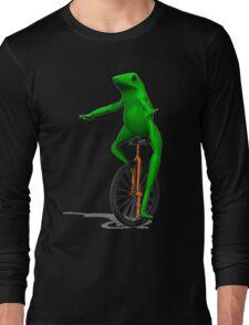DAT BOI FROG MEME INTERNET PEPE RARE Long Sleeve T-Shirt