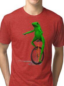 DAT BOI FROG MEME INTERNET PEPE RARE Tri-blend T-Shirt