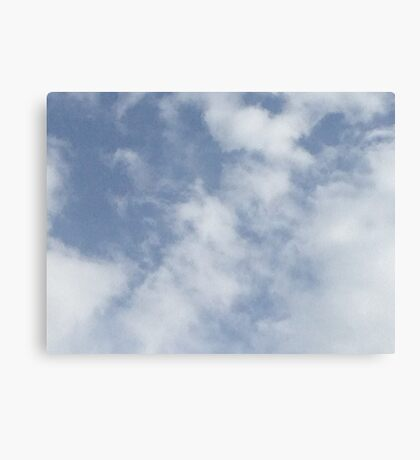 White Clouds Canvas Print