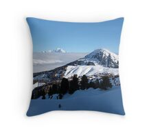 Mont Blanc above the Clouds Throw Pillow