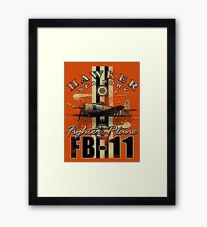 sea fury Framed Print