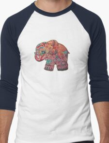 Vintage Elephant Men's Baseball ¾ T-Shirt
