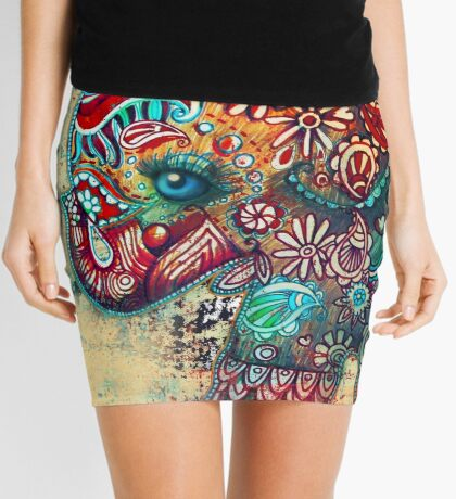 Vintage Elephant Mini Skirt
