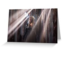 Clarke Griffin - Season 3 - Poster Greeting Card