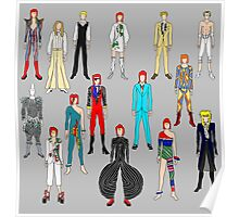 Bowie Scattered Fashion Poster