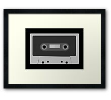 Retro Vintage Cassette Tape - Cool Music T Shirt Prints Stickers Framed Print