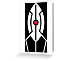 Minimal Portal Turret Greeting Card