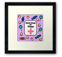 Dose of happy Framed Print