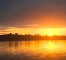 Sunrise on Callender Lake Sticker