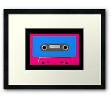 Retro Vintage Cassette Tape - Cool Pop Music T Shirt Prints Stickers Framed Print