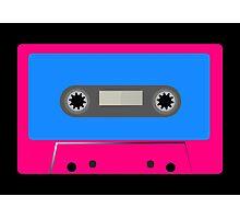 Retro Vintage Cassette Tape - Cool Pop Music T Shirt Prints Stickers Photographic Print