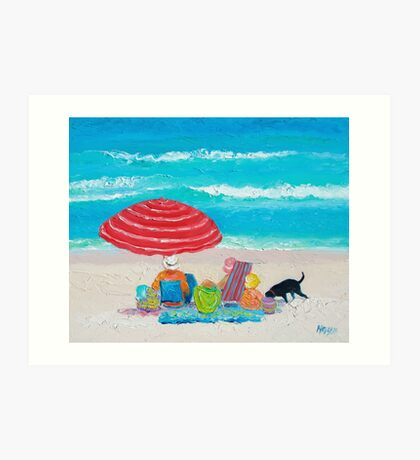 Beach painting - One Summer Art Print