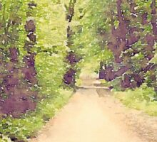 Into the Woods - St. Fagans, Wales - Watercolor Sticker