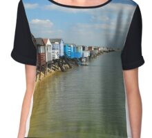 stairs to sea Women's Chiffon Top