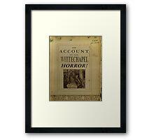Altered, Newspaper Headline ~ HORROR! Framed Print