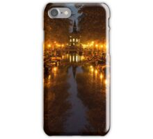 Amsterdam Canal in Golden Yellow iPhone Case/Skin
