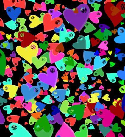 VW Love VW Hearts Medley Sticker