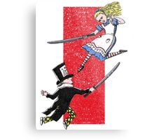 Alice vs. The Mad Hatter Metal Print