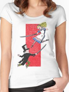 Alice vs. The Mad Hatter Women's Fitted Scoop T-Shirt