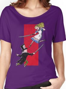 Alice vs. The Mad Hatter Women's Relaxed Fit T-Shirt