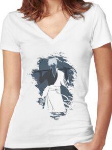 Samurai Gintoki Gintama Women's Fitted V-Neck T-Shirt