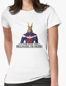 All Might anime manga shirt Womens Fitted T-Shirt