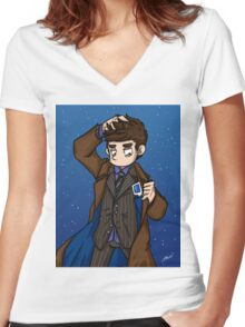 Doctor Who - Tenth Doctor  Women's Fitted V-Neck T-Shirt