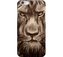Lion - Charcoal drawing of a Lion iPhone Case/Skin