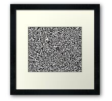 Op Ripples Framed Print