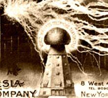 Vintage Tesla Illustration Sticker