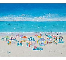 Beach painting - Fun in the sun Photographic Print