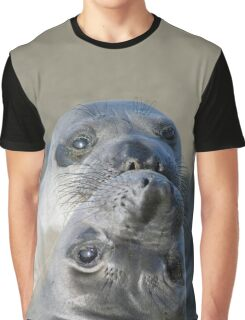 Two Northern Elephant Seal Pups Graphic T-Shirt